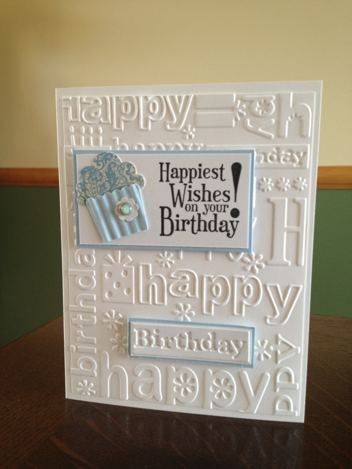 Birthday wishes in carved card
