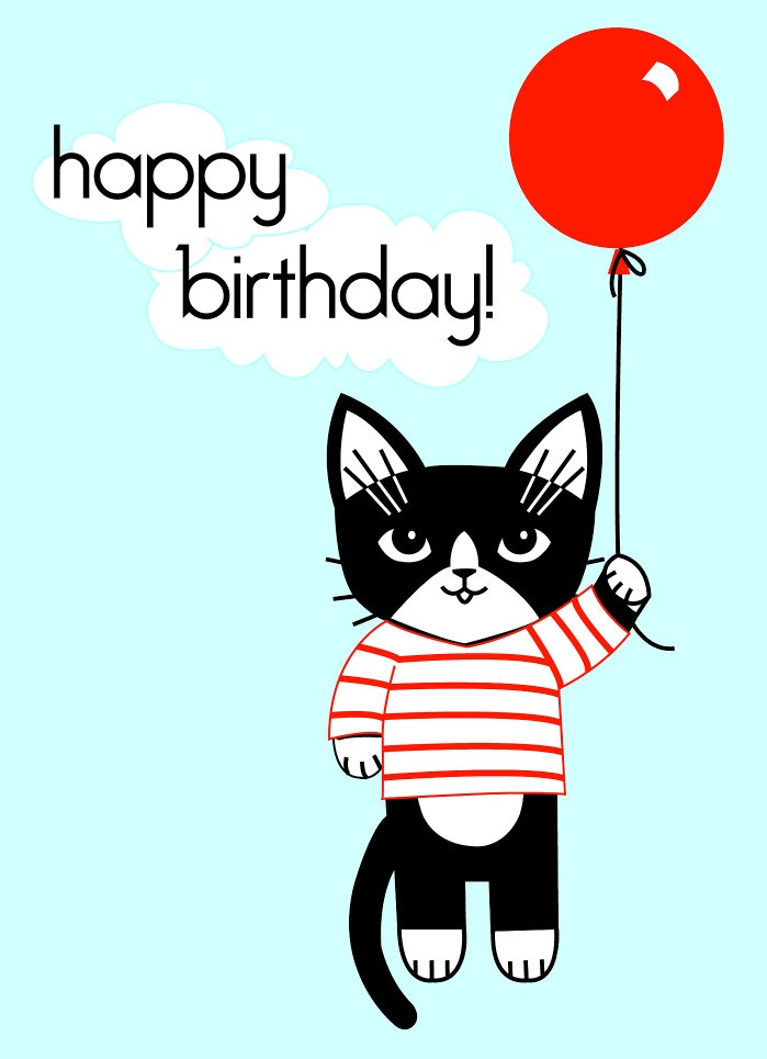 Cat Birtday Card